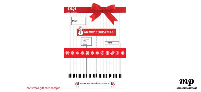 Mezzo Piano lessons gift card